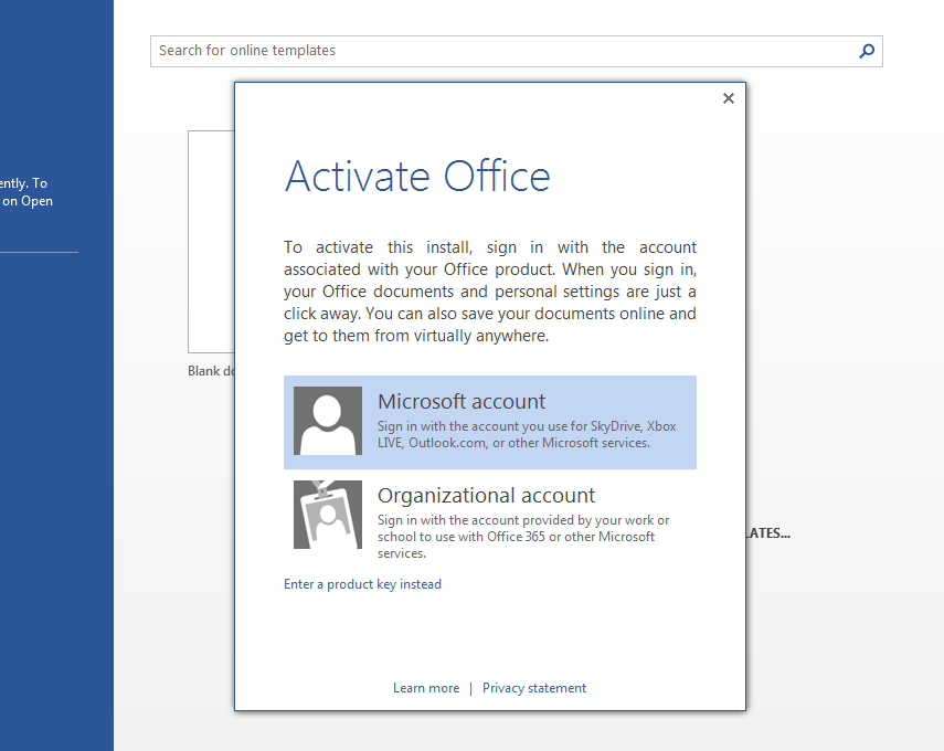 When you activate Office, you will be asked to link it to your Microsoft account